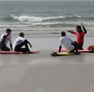 Surf lessons in Pembrokshire